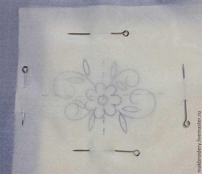 перевод рисунка, рисунок на ткани, урок выгивки, схема вышивки
