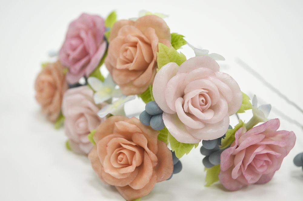 мастер-класс, полимерная глина, ботаническая скульптура, браслет с цветами