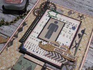 Мужская открытка в технике скрапбукинг | Ярмарка Мастеров - ручная работа, handmade