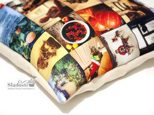 Фотоподушка — создаем новогодний подарок-сувенир своими руками. Ярмарка Мастеров - ручная работа, handmade.