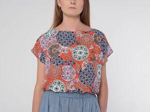 Блуза оверсайз YOKU из штапеля. Ярмарка Мастеров - ручная работа, handmade.