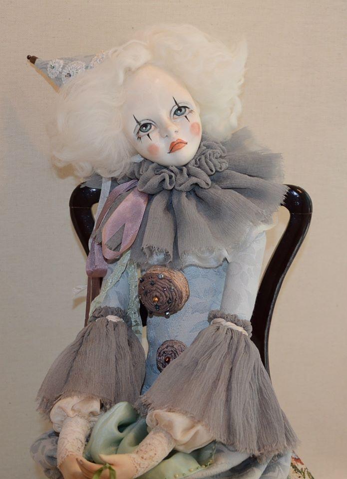будуарная кукла, ручная работа