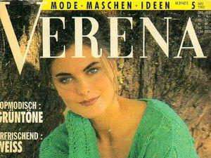 Verena № 5/1992. Содержание.. Ярмарка Мастеров - ручная работа, handmade.