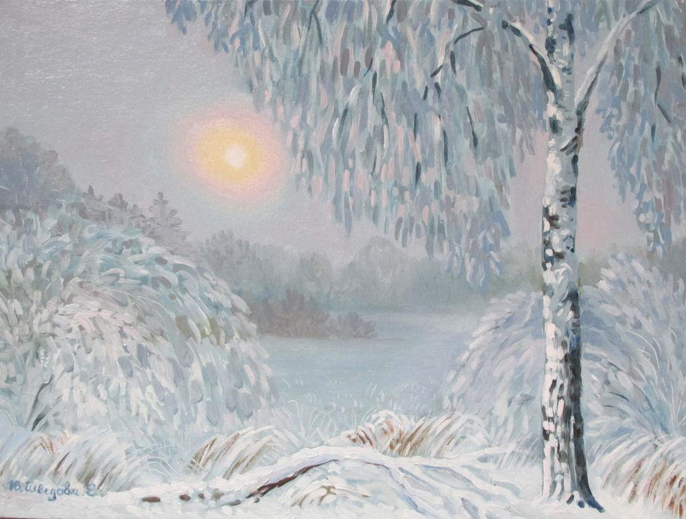 скидки, картина со скидкой, зимний пейзаж, снег, ярмарка мастеров, авторская работа