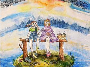 Забавная детская иллюстрация акварелью (для оформления детской комнаты или в подарок) | Ярмарка Мастеров - ручная работа, handmade