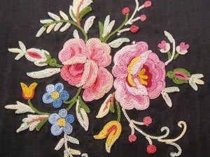 Техника тамбурной вышивки Point de Beauvais. Ярмарка Мастеров - ручная работа, handmade.