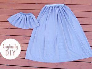 Как сшить юбку на резинке без выкройки за полчаса. Ярмарка Мастеров - ручная работа, handmade.
