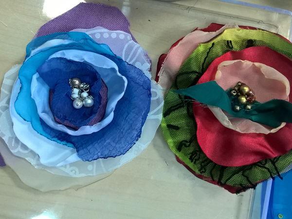 Стильные броши из ткани. | Ярмарка Мастеров - ручная работа, handmade