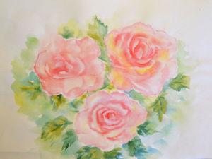 Рисуем розы акварелью: видео мастер-класс. Ярмарка Мастеров - ручная работа, handmade.