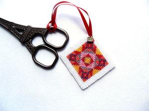 Щедрый аукцион. Миниатюра с ручной вышивкой крестом.. Ярмарка Мастеров - ручная работа, handmade.