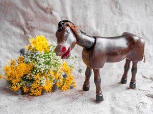 Антикварная игрушка Ослик из цирка Хампти Дампти. Ярмарка Мастеров - ручная работа, handmade.