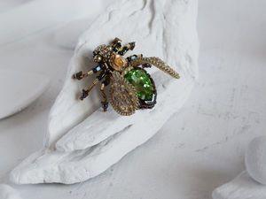 Видео брошь муха 3 D. Ярмарка Мастеров - ручная работа, handmade.