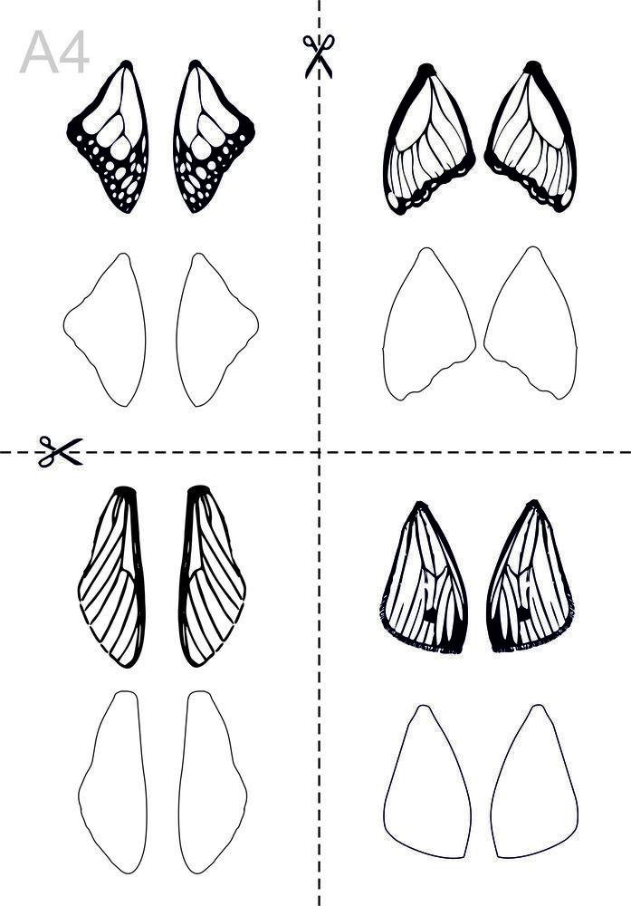 Создаем весенние серьги из полимерной глины «Крылья мотылька», фото № 2