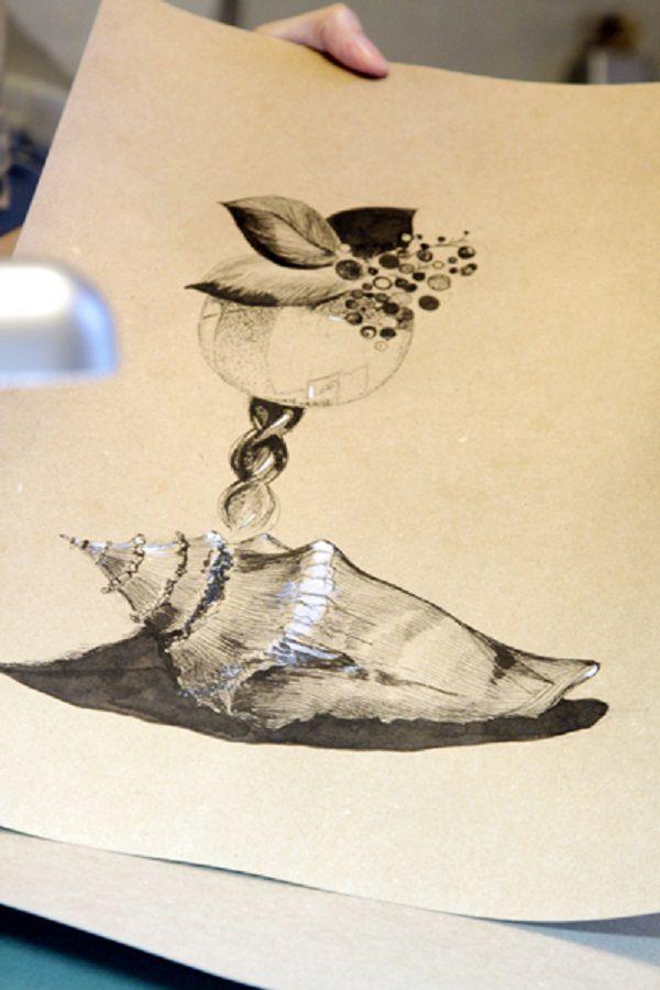 мастер-класс, оксана санжарова, графика, рисование тушью, живопись, wingsofart