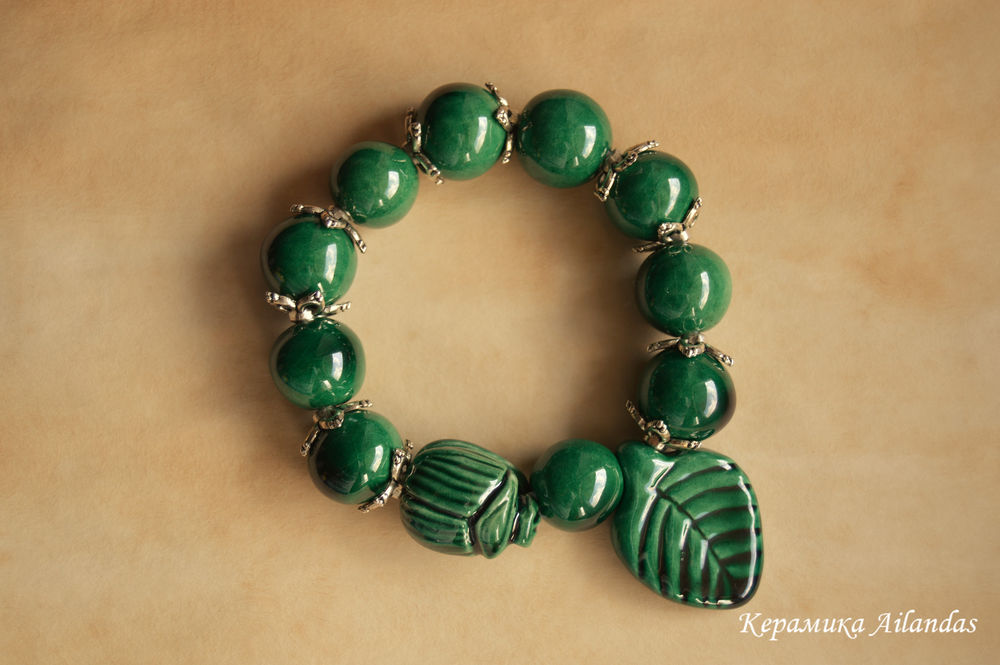 браслеты, керамика ailandas, подарок жене, бабочка