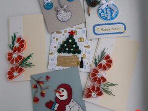 Новогодняя акция: купи 3 открытки и получи 4-ую в ПОДАРОК!. Ярмарка Мастеров - ручная работа, handmade.