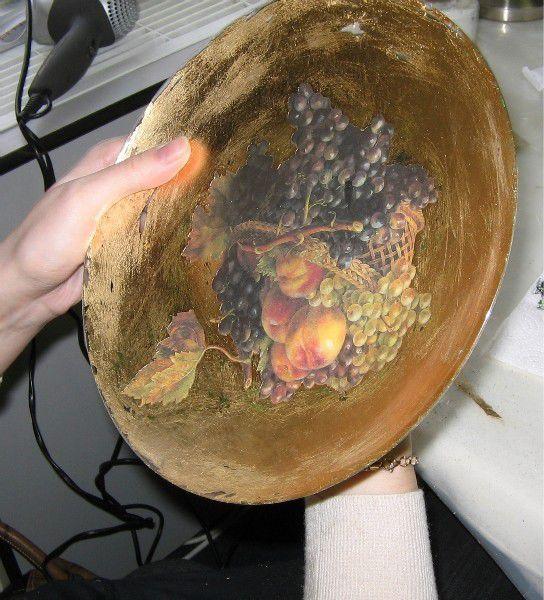 Фото 24.03.11 МК Обратный декупаж с золочением и окислением