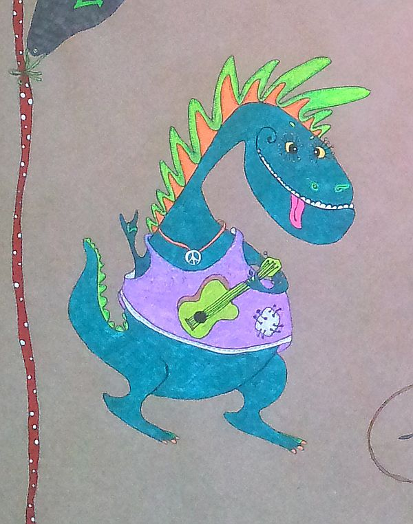 позитив, динозавры рока, будни очумельца, тираннозавр