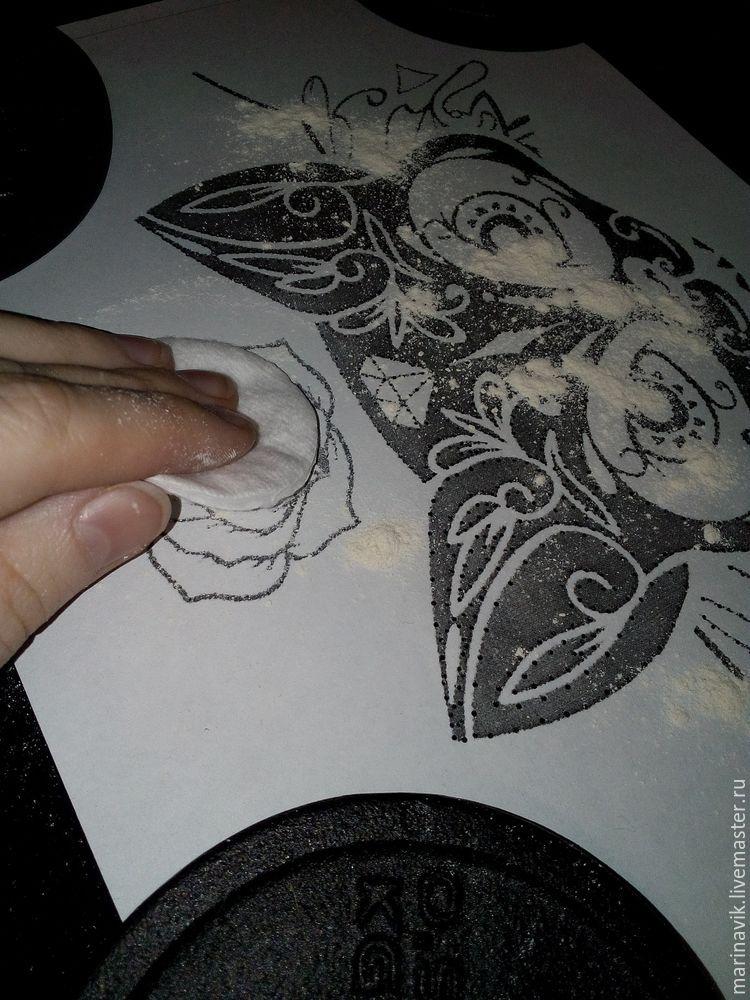 Как перенести рисунок на чёрную ткань, фото № 11