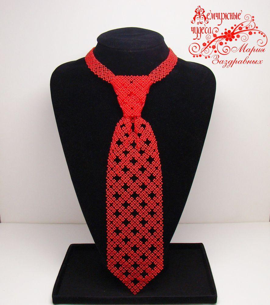 красный, подарок мужчине, украшения из бисера