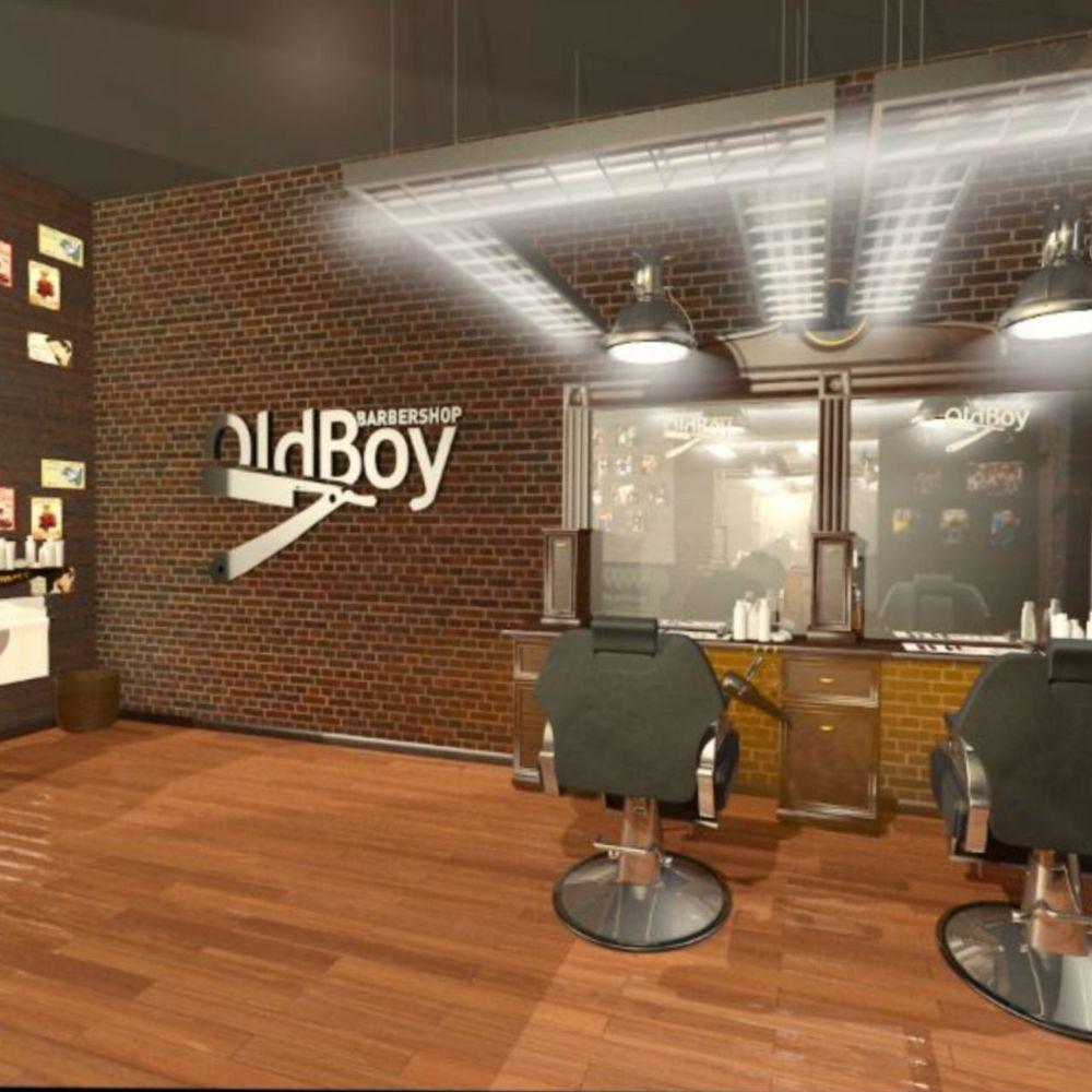 barbershop old boy, old boy отделка, интерьер барбершопа, дизайн барбершопа, барбершоп в стиле лофт