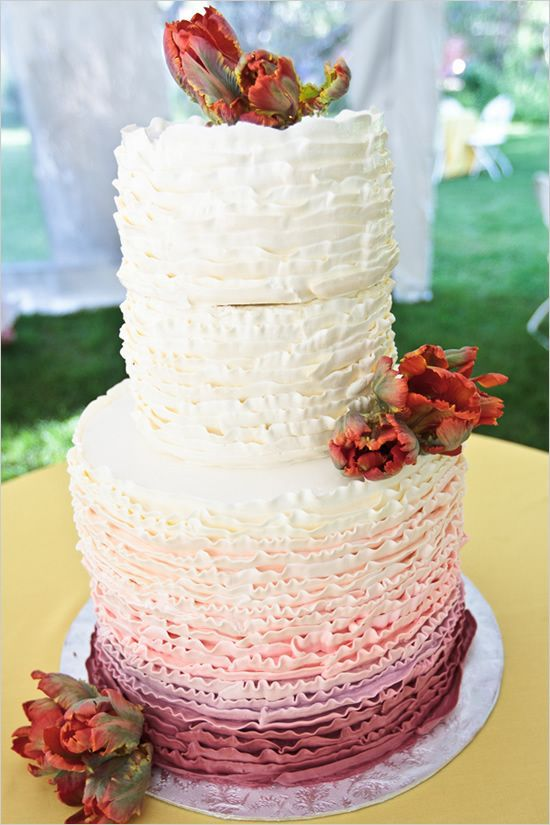 ombre wedding cake....thinking Ombre for my wedding.