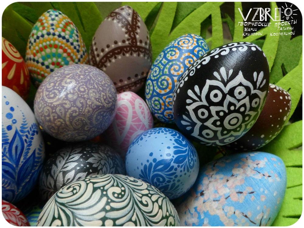 взбрело, роспись, ретроспектива, пасхальные яйца