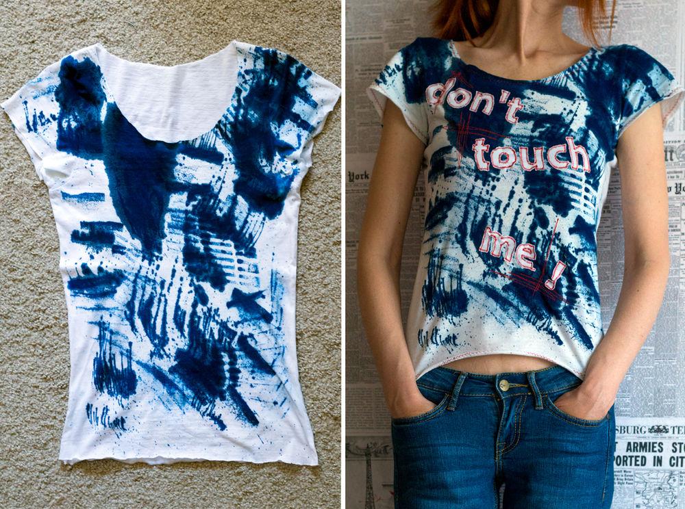 цианотипия, цианотипия на ткани, футболка