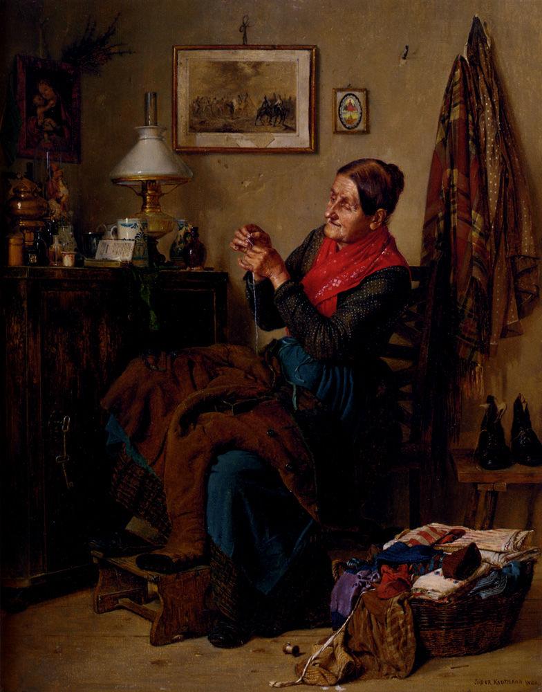 Когда есть чем заняться — стареть некогда: душевные картины о бабушках-рукодельницах, фото № 8