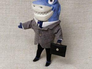 Делаем акулу-бизнесмена из шерсти. Ярмарка Мастеров - ручная работа, handmade.