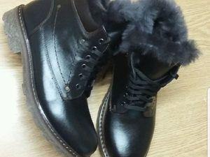 Натуральные женские ботинки из качественой кожи. Ярмарка Мастеров - ручная работа, handmade.