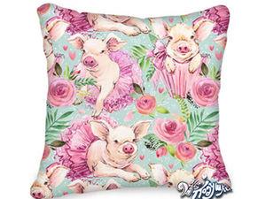 Нежная подушка с символом года — Свинкой). Ярмарка Мастеров - ручная работа, handmade.