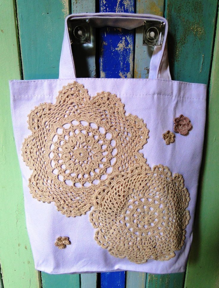 Doily Tote Bag. #lace #crochet