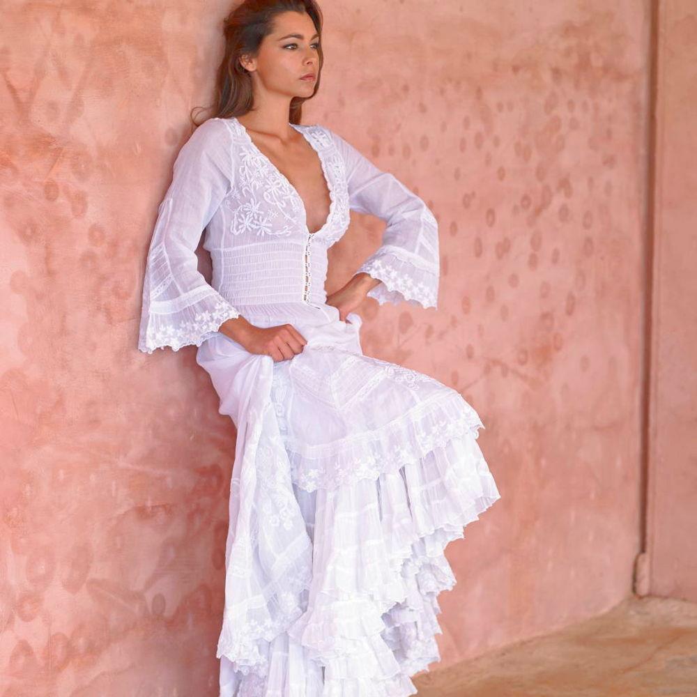 Белое бохо, или Шикарная одежда для королевы летнего пляжа, фото № 131