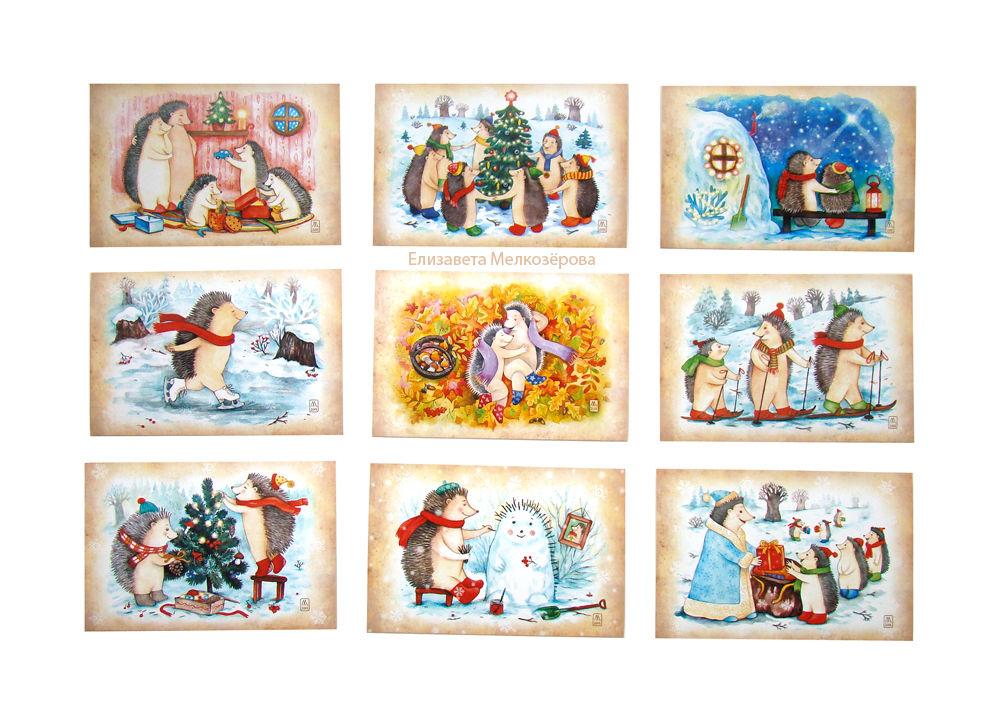 авторская открытка, детям детский детская, рождество рождественский