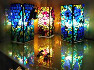 Новые витражные лампы. Ярмарка Мастеров - ручная работа, handmade.