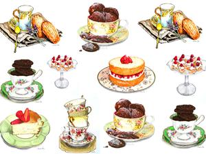 """Картинки для декупажа """"Сладкое чаепитие"""". Ярмарка Мастеров - ручная работа, handmade."""
