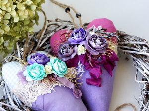 Шьем цветочное сердечко в стиле шебби-шик. Ярмарка Мастеров - ручная работа, handmade.