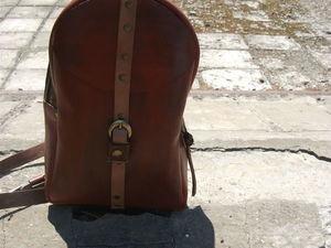 Кожаный рюкзак Рыжий. Ярмарка Мастеров - ручная работа, handmade.