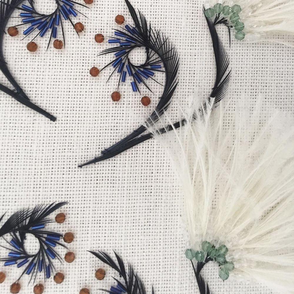 Подушки с вышивкой от Atelier Wilson (Франция)