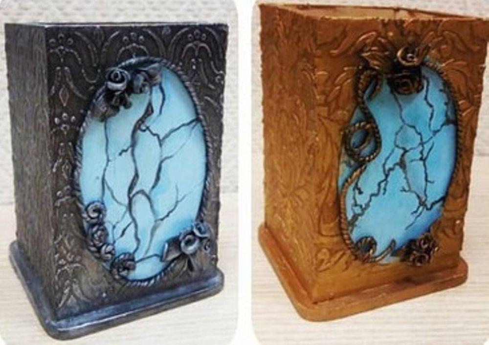 декупаж, полимерная глина, имитация камня