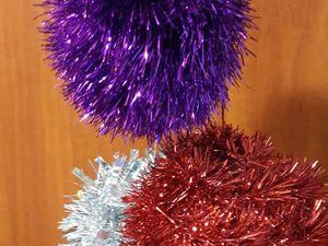 Мастерим новогодний шар из мишуры. Ярмарка Мастеров - ручная работа, handmade.