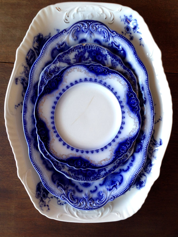 Flow blue — антикварная красота из Англии, фото № 36