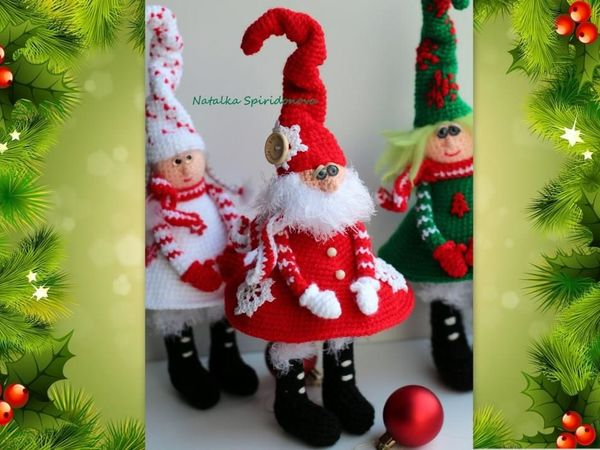 Вяжем Деда Мороза крючком | Ярмарка Мастеров - ручная работа, handmade