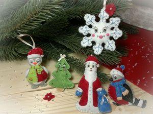 Шьём набор ёлочных игрушек из фетра «Новогодняя семейка». Ярмарка Мастеров - ручная работа, handmade.