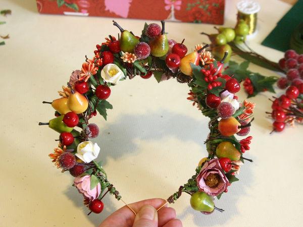 Создаем ободок-корону с фруктами и ягодами для Королевы урожая | Ярмарка Мастеров - ручная работа, handmade
