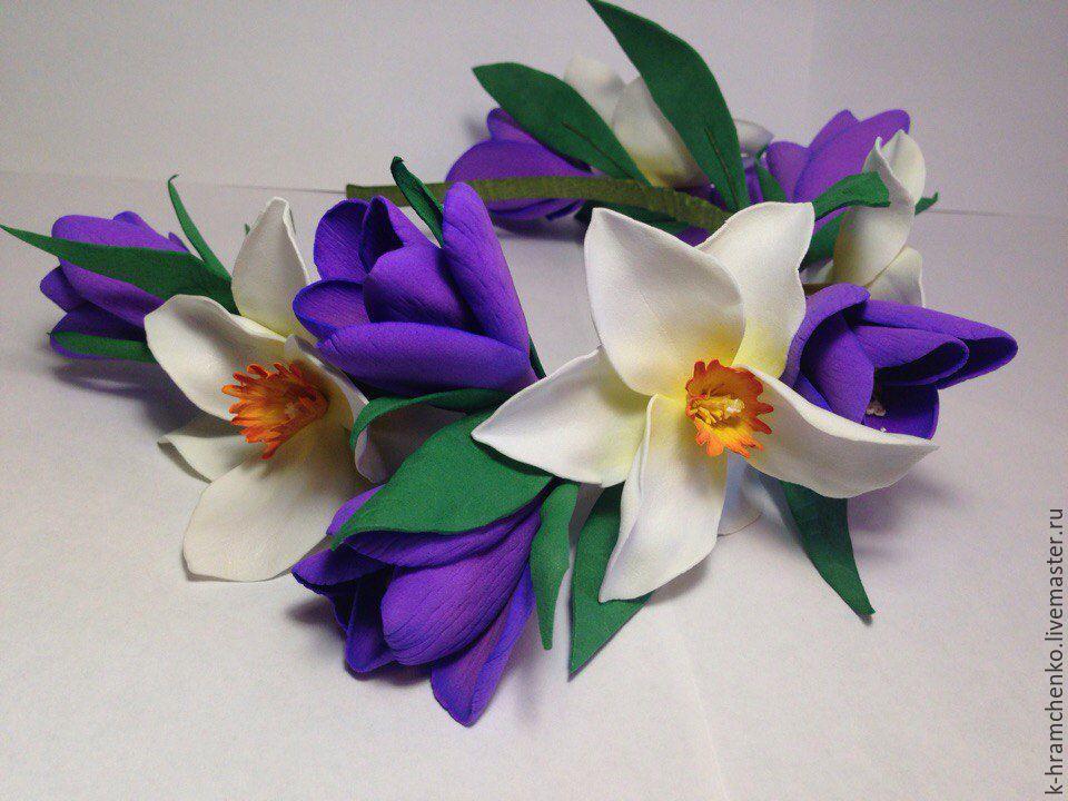 Весенние цветы из фоамирана своими руками 153