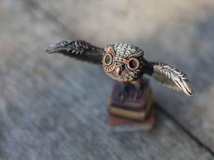 Статуэтка Сова в стилистике стимпанк. Ярмарка Мастеров - ручная работа, handmade.