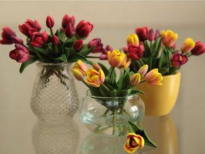 Миниатюра. Букеты из запекаемой глины. Весенние тюльпаны. | Ярмарка Мастеров - ручная работа, handmade