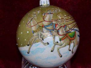 Елочная игрушка своими руками. Декорируем новогодний шарик. Ярмарка Мастеров - ручная работа, handmade.